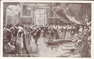 Historical pageant, Quebec 1908 -Champlain receiving his commission at the court of Henri IV of France