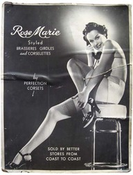 Affiche publicitaire : Rose Marie styled by Perfection Corset.