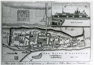 Plan of the town & fortifications of Montreal or Ville Marie in Canada